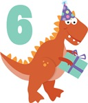 6th Birthday Dinosaur Kids Tee Shirts