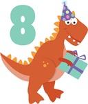 8th Birthday Dinosaur Kids Tee Shirts