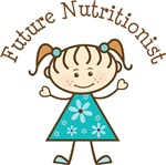 Future Nutritionist Stick Girl Occupation T-shirts