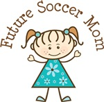 Future Soccer Mom Stick Girl Occupation T-shirts