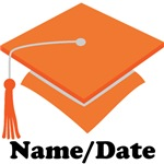 Personalized Orange School Graduation Apparel