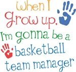 Future Basketball Team Manager Kids T-shirts