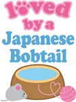 Loved By A Japanese Bobtail Cat T-shirts