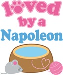 Loved By A Napoleon Cat T-shirts
