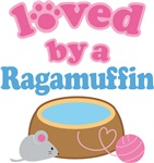 Loved By A Ragamuffin Cat T-shirts