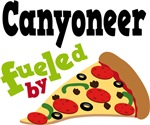 CANYONEER Funny Fueled By Pizza T-shirts