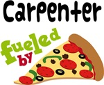 CARPENTER Funny Fueled By Pizza T-shirts