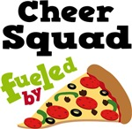 Cheer Squad Funny Fueled By Pizza Tshirts