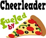 CHEERLEADER Funny Fueled By Pizza T-shirts