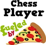 CHESS PLAYER Funny Fueled By Pizza Tshirts