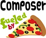 COMPOSER Funny Fueled By Pizza T-shirts