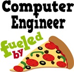 COMPUTER ENGINEER Fueled By Pizza T-shirts