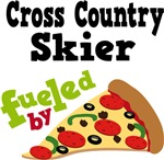 Cross Country Skier Fueled By Pizza Tshirts