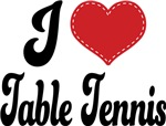 I Heart Table Tennis T-shirts and Gifts