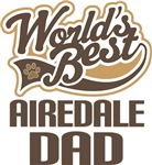 Airedale Dad (Worlds Best) T-shirts