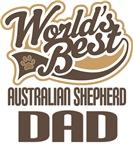 Australian Shepherd Dad (Worlds Best) T-shirts
