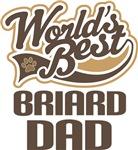Briard Dad (Worlds Best) T-shirts