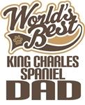 King Charles Spaniel Dad (Worlds Best) Tshirts