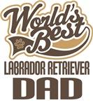 Labrador Retriever Dad (Worlds Best) T-shirts