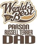 Parson Russell Terrier Dad (Worlds Best) T-shirts