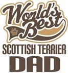 Scottish Terrier Dad (Worlds Best) T-shirts