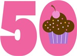 50th BIRTHDAY Cupcake T-SHIRT GIFTS