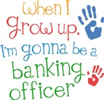 Future Banking Officer Kids T-shirts