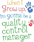 Future Quality Control Manager Kids T-shirts