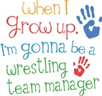 Future Wrestling Team Manager Kids T-shirts