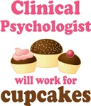 Clinical Psychologist cupcake T-shirts