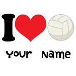 Personalized I Heart Volleyball T-shirts