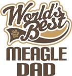 Meagle Dad (Worlds Best) T-shirts