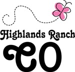Highlands Ranch Colorado Butterfly T-shirts