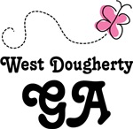 West Dougherty Georgia Butterfly T-shirts