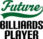 Future Billiards Player Kids T Shirts