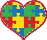 Autism Puzzle Heart Tshirts and Walk Gear