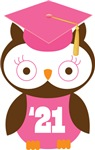 Owl 2021 Class Grad Gifts and Shirts