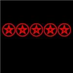 Red As Above Pentagram Pentacle