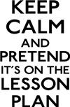 Keep Calm Lesson