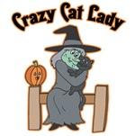 Crazy Halloween Cat Lady