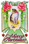 Merry Christmas Vintage Cat  Apparel and Gifts