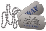 Air Force Grandfather Dog Tags