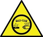 Corrosive Material Warning Sign