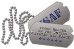 Air Force Nephew Dog Tags