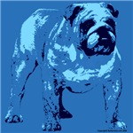 Blue Tone Bulldog Design
