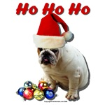 Ho Ho Ho Christmas Bulldog