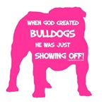 God Created Bulldogs Pink