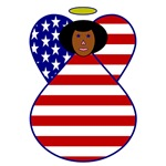 USA Flag Angel of Color