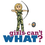 Camouflage Archery Girl - Blonde