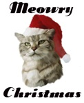 Meowry Merry Christmas Cat T-shirts & Gifts